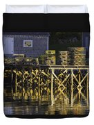 Port Clyde Pier On The Coast Of Maine Duvet Cover