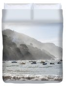 Port In Sestri Levante Duvet Cover