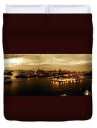 Port Miami Golden Photopaint Duvet Cover