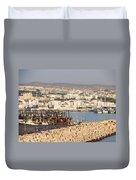 Port Of Agadir Morocco Duvet Cover
