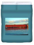Port Of Naples Duvet Cover