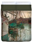 Port Of Trieste Duvet Cover by Egon Schiele