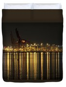 Port Of Vancouver Bc Canada Duvet Cover