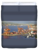 Port Of Vancouver Panorama Duvet Cover