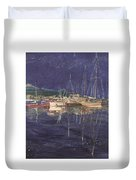 Stary  Port Orchard Night Duvet Cover
