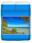 Port Sanilac Scenic Turnout Duvet Cover