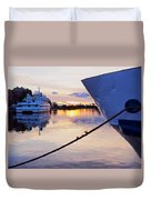 Port Sunrise Duvet Cover