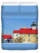 Port Washington Light Station  Duvet Cover