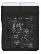 Portable Drum Set Patent 037 Duvet Cover