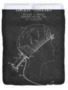 Portable Hair Dryer Patent From 1968 - Charcoal Duvet Cover