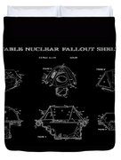 Portable Nuclear Fallout Shelters 2 Patent Art 1986 Duvet Cover