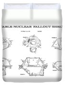 Portable Nuclear Fallout Shelters3  Patent Art 1986 Duvet Cover