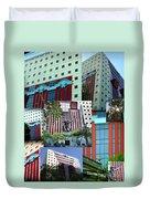 Portland Building Collage Duvet Cover