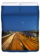 Portland City Blue Hour Duvet Cover