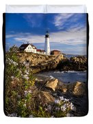 Portland Head Light Duvet Cover by Brian Jannsen
