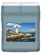 Portland Head Light In Maine Duvet Cover