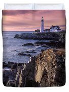 Portland Headlight Maine Duvet Cover