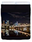 Portland Oregon At Night Duvet Cover