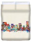Portland Skyline Oregon Duvet Cover
