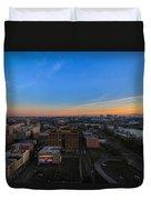 Portland Winter Sunrise Duvet Cover