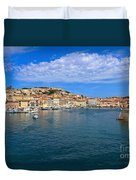 Portoferraio - View From The Sea Duvet Cover
