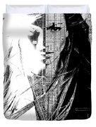 Portrait Art Jennifer Lopez  Duvet Cover
