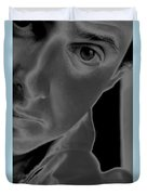 Portrait Figurative Study Piece Of Bobby As Solarised Duvet Cover