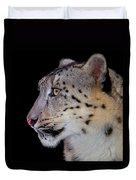 Portrait II Of A Snow Leopard Duvet Cover