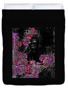Portrait In Black - S01-02b Duvet Cover by Variance Collections