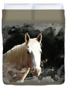 Portrait In Watercolor -  Featured In Spectacular Artworks Of Faa Duvet Cover