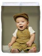 Portrait Of A Baby Boy Duvet Cover