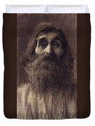 Portrait Of A Bearded Man Duvet Cover