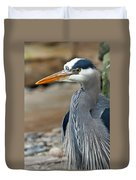 Portrait Of A Blue Heron Duvet Cover