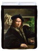 Portrait Of A Collector Duvet Cover