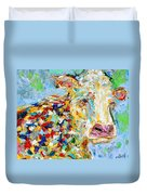 Portrait Of A Cow Duvet Cover