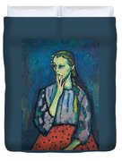 Portrait Of A Girl Duvet Cover