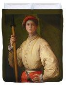 Portrait Of A Halberdier Duvet Cover