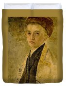 Portrait Of A Jewish Boy  Duvet Cover