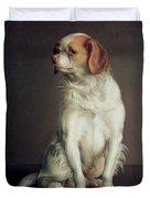 Portrait Of A King Charles Spaniel Duvet Cover