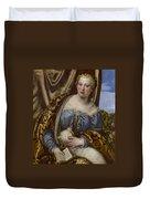 Portrait Of A Lady As Saint Agnes Duvet Cover