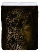 Portrait Of A Leopardess  Duvet Cover