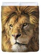 Portrait Of A Lion Duvet Cover