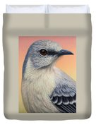Portrait Of A Mockingbird Duvet Cover