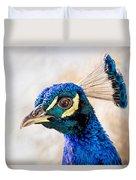 Portrait Of A Peacock Duvet Cover
