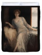 Portrait Of A Seated Woman Duvet Cover