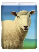 Portrait Of A Sheep Duvet Cover