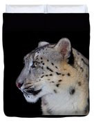 Portrait Of A Snow Leopard Duvet Cover