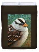 Portrait Of A Sparrow Duvet Cover by James W Johnson