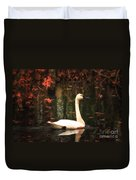 Portrait Of A Swan Duvet Cover