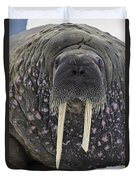 Portrait Of A Walrus Duvet Cover